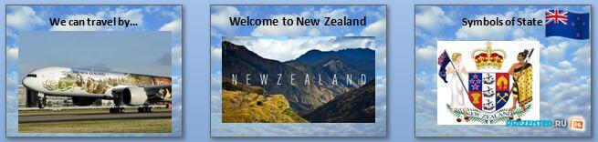Слайды презентации: Путешествие в Новую Зеландию (Travelling to New Zealand)