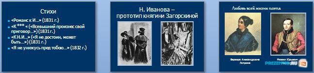 Слайды презентации: Адресаты любовной лирики М.Ю. Лермонтова