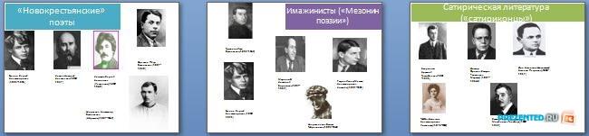 Слайды презентации: Представители Серебряного века