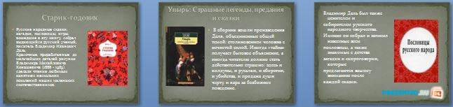 Слайды презентации: Произведения Владимира Ивановича Даля