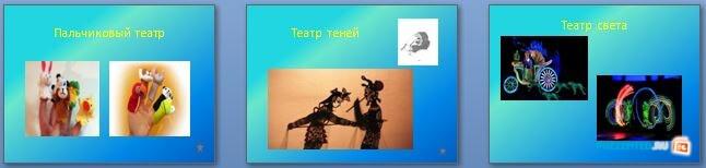 Слайды презентации: Театральное искусство
