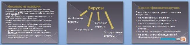 Слайды презентации: Компьютерные вирусы