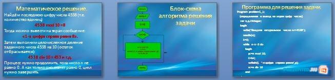 Слайды презентации: Цикл с предусловием