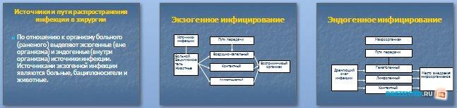 Слайды презентации: Асептика