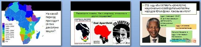 Слайды презентации: Африка во второй половине XX – начале XXI века