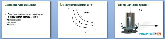 Слайды презентации: Газовые законы