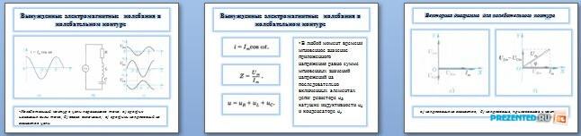 Слайды презентации: Колебательный контур в цепи переменного тока