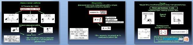 Слайды презентации: Механическая работа