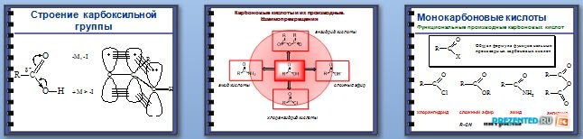 Слайды презентации: Нуклеофильное замещение у карбоновых кислот и их функциональных производных