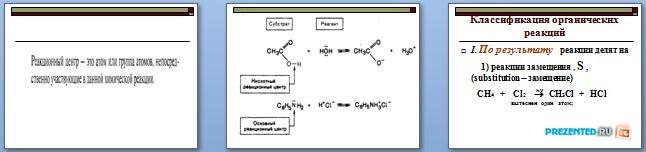 Слайды презентации: Общая характеристика реакций органических соединений