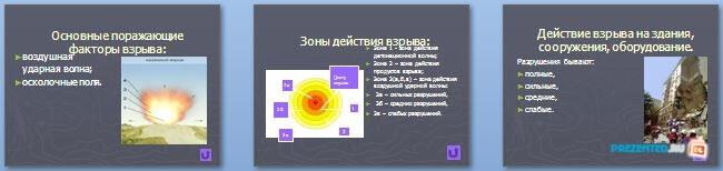 Слайды презентации: Взрывы