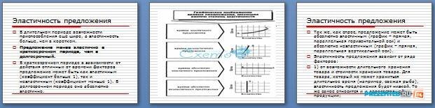 Слайды презентации: Эластичность, рынки факторов производства, доходы